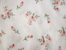 0,5 m Stoff Baumwolle ♥ weiß rosa Blümchen  Blumen Muster Millefleurs Mathilda´s