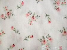 0,5 m Tessuto Cotone bianco rosa Fiorellini Motivo Fiori Millefleurs Mathilda´s
