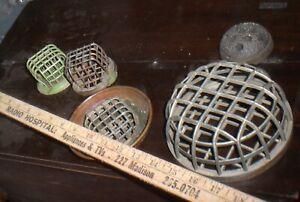 Vintage Dazey Frog Cage Flower Industrial Steampunk group of  5