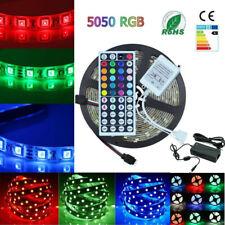 24V 5M RGB LED Stripe Strip Beleuchtung Leiste Streifen 5050 Controller Netzteil