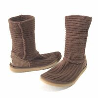 UGG Australia Cardy Womens Size 6 Winter Boots Brown Knit 5857