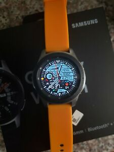 Samsung Galaxy Watch SM-R800 46mm Silver Case, Orange band