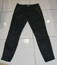 Womens size 11 slim fit wet look black denim jeans made by SUSSAN