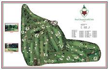 Fox Chapel Golf Club 1923 Seth Raynor  VintageGolfCourse Maps print