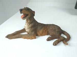 Irish Wolfhound or Deerhound dog figure model Castagna with certificate brownish