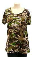 Under Armour Threadborne Forest Camo Short Sleeve Hunting Shirt Women's NWT