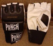 Aaa Grade Punch Equipment Half Mitt Punching Bag Gloves ,Large,Black & White