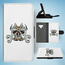 SAMSUNG GALAXY NOTE 9 FLIP CASE WALLET COVER|SKULL 2