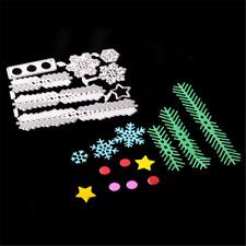 Stanzschablone Sterne Punkte Tannenbaum Zweig Weihnachten Papier Karte Deko DIY