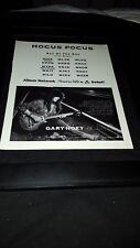 Gary Hoey Hocus Pocus Rare Original Radio Promo Poster Ad Framed! #2