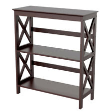 Bookcase Bookshelf Console Side Table Storage Rack Display Stand Shelf Organizer