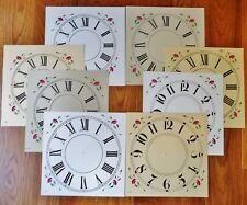 8 Only OG Clock Dial Assortment Card Stock - Antique Clock Part, Premium Quality