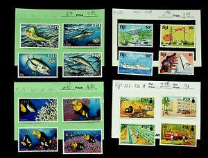 FIJI MARINE LIFE FISH FORESTRY RICE IRRIGATION HIGHWAY 16v MINT STAMPS CV $19