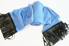 "OL20 NEW CUSTOMIZED PASHMINA SILK SUEDE FRINGE SCARF HANDMADE IN NEPAL 36""x80"""