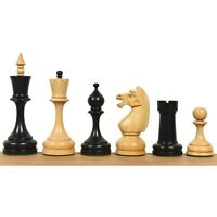 """4.5"""" Circa 1960's Soviet Russian Chess Pieces only Set-Double Weighted Boxwood"""