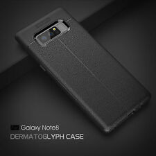 For Samsung Galaxy Note 8 S8 Plus Slim Shockproof TPU Leather Skin Case Cover