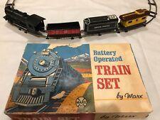 MARX TRAIN SET BATTERY OPERATED VINTAGE UNION PACIFIC LOCOMOTIVE 3 CARS & TRACKS