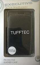 Cuero Genuino Pro-Tec Ejecutivo Vertical Flip Case BlackBerry 9800-Negro