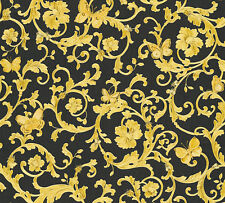 Versace 3 Home Wallpaper 343252 Ornament Schmetterlinge Tapete Designtapete