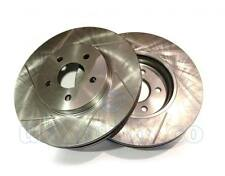 GROOVED Performance FRONT Brake Discs FORD MONDEO III Saloon (B4Y) ST220 2002-07