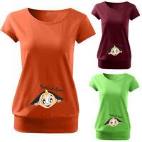 Women Maternity Cute Cartoon Letter Short Sleeve T Shirt Pregnant Top Blouse Tee