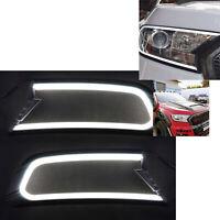 DRL Daytime Running Light LED Headlight Cover for Ford Ranger MK2 Everest 15-18