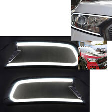 DRL Daytime Running Light LED Headlight Cover for Ford Ranger MK2 Everest 15-18