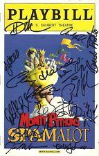 "Clay Aiken (Cast Signed) ""SPAMALOT"" Jonathan Hadary 2008 Broadway Playbill"