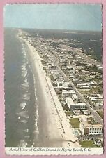 Postcard, Aerial View of Golden Strand in Myrtle Beach, S.C., Posted