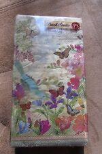 NWT Punch Studio 95882 Secret Garden 32-ct Guest Towel Paper Napkins
