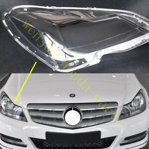 1* Fit For Mercedes-Benz C-Class W204 2011-13  Right Headlight Cover Clean +Glue