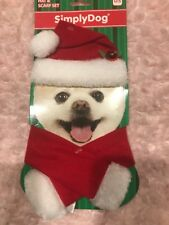 New listing Simply Dog Small Santa Hat And Scarf