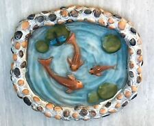 Miniature Dollhouse FAIRY GARDEN Accessories ~ Koi Pond with Rock Look Walls NEW