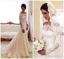 Vestidos De Novia Lace Wedding Dresses Off Shoulder Applique A Line Long Sleeves