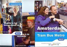 Nederlandse Netherlands GVB Metro bus tram network Kaart maps 2012 Amsterdam