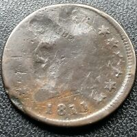 1811 Large Cent Classic Head One Cent 1c RARE Key Date Circulated #17708