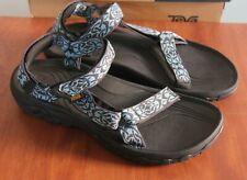 Teva W Hurricane 4 Sz 11 Womens Sandals Black Blue Shoes