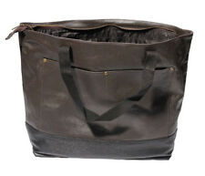 Ducti Large Utility Tote Bag - Soft and Durable PU Faux Leather - Brown