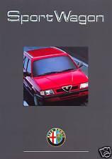 Alfa Romeo 33 Sport Wagon 16V UK market 1991 sales brochure