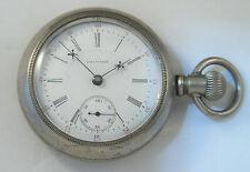 Waltham PS Bartlett 17 Jewel S18 Open Face Silverode Sindwinder Pocketwatch 1898