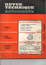 RTA revue technique l'expert automobile n ° 273 SIMCA 1200s 1200 s sport 1969
