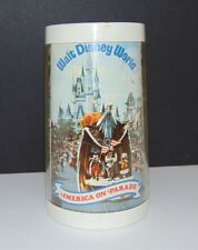 Walt Disney World 1776 1976 America On Parade Plastic Beer Mug Glass