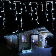 Cadena de luces 4,2 m con 168 LED blanco frío efecto lluvia helada para Navidad