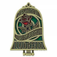 Disney Pin 119603 Mirror Beauty and the Beast found Within Stained Glass Hinged