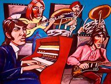 BEATLES PRINT poster paul mccartney john lennon harrison ringo abbey road cd amp