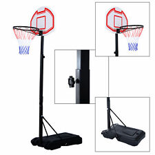 Soozier Adjustable Basketball Hoop System Stand Kids Outdoor Net Goal w/ Wheels