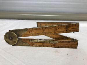 "Vintage ""Lufkin"" No.873L Boxwood Folding Rule"