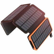 Solar Charger 25000mAh Portable Power Bank Waterproof Battery iPhone iPad Pack