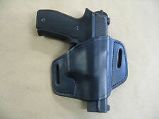 Ruger P85, P89, P90, P95, P97, P345 Leather 2 Slot Molded Pancake Belt Holster