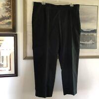 Lands End Black Side Zip Pants Plus Size 20W A2331